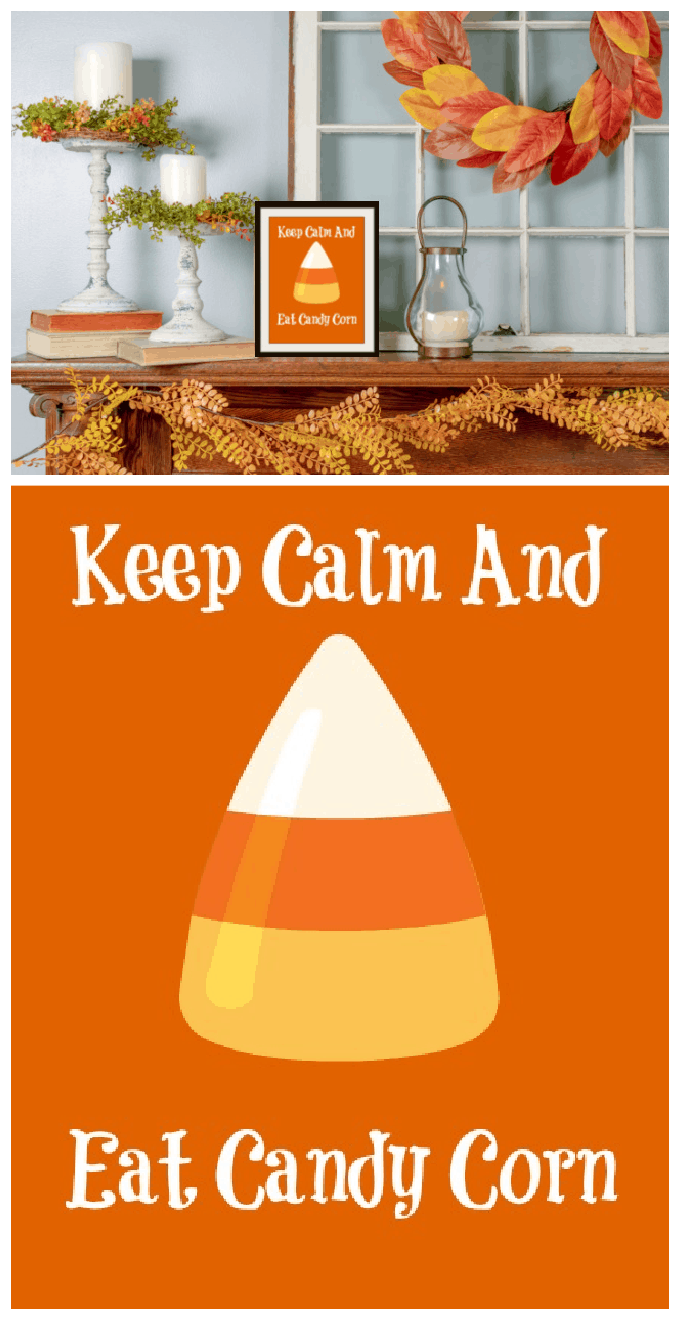 You'll love this cute little Candy Corn Printable in your home! #freeprintable via @jugglingactmama