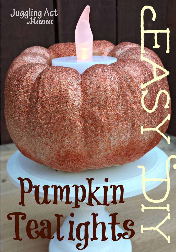 Easy DIY Pumpkin Tealights