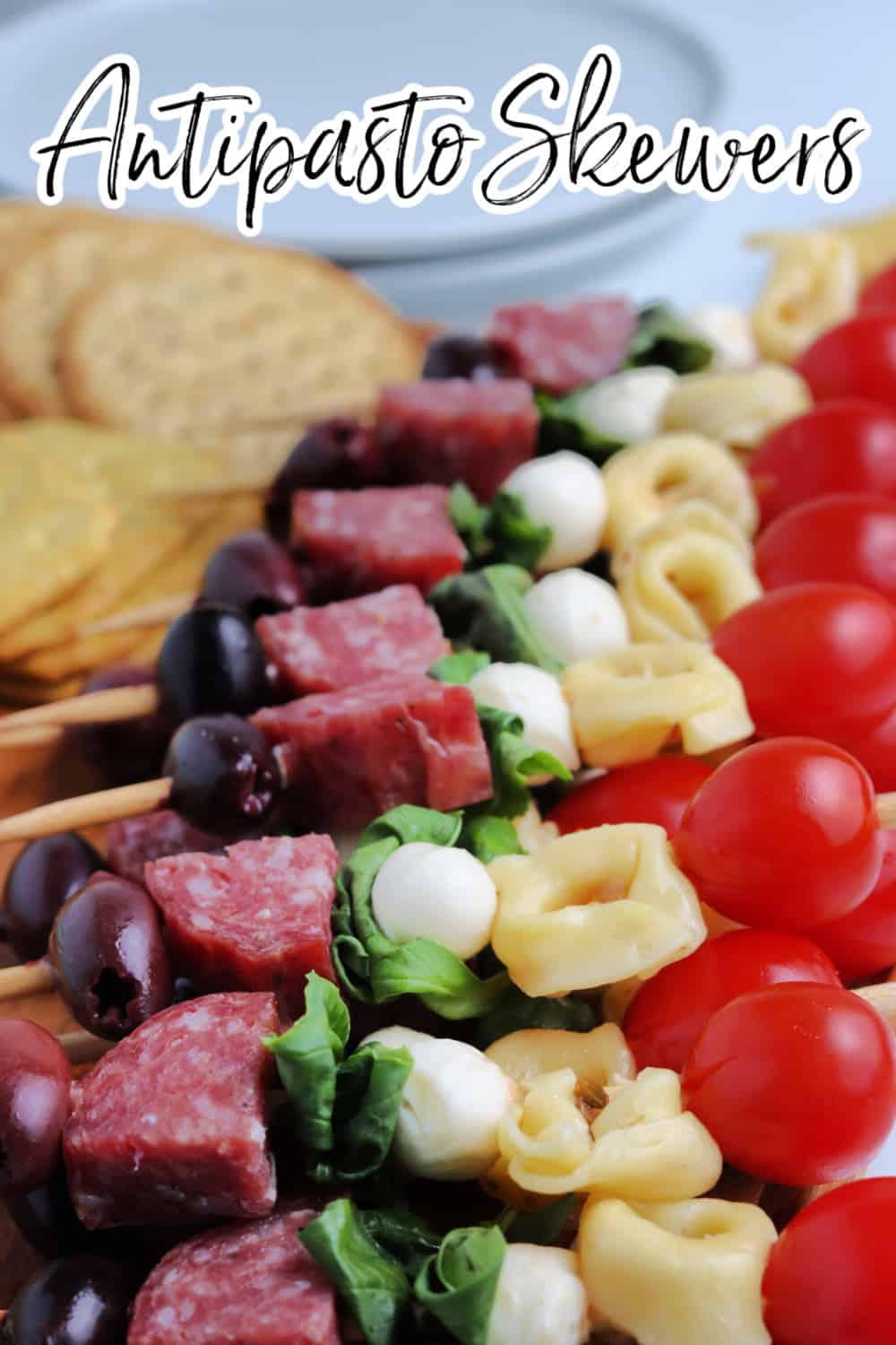 Make these gorgeous and delicious antipasto kabobs for your next party or holiday gathering. Antipasto Skewers are a fabulous appetizer everyone will love. via @jugglingactmama