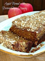 Apple Bread with Brown Sugar Topping via Juggling Act Mama