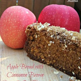 Apple Bread with Cinnamon Brown Sugar & Oat Topping via Juggling Act Mama