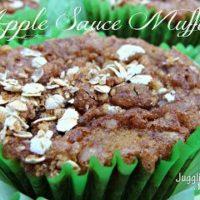 Apple Sauce Muffins via Juggling Act Mama #applesauce #muffins