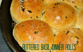 PW Inspired Buttered Basil Dinner Rolls