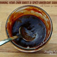 How to Can Your Own Sweet & Spicy Barbecue Sauce with Free Printable Label via Juggling Act Mama ~ https://www.jugglingactmama.com/2013/08/how-to-can-your-own-sweet-spicy.html