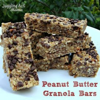Peanut Butter Granola Bars via Juggling Act Mama
