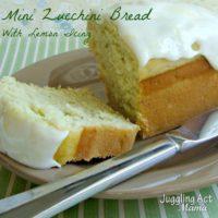 Mini Lemon Zucchini Bread with Lemon Glaze