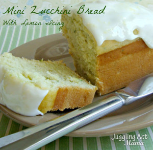 Mini Zucchini Bread with Lemon Icing
