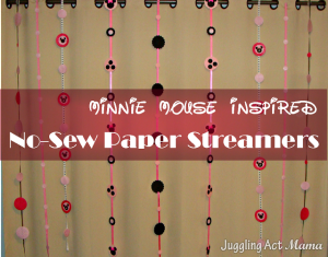 No-Sew Paper Streamers {Free Printable}