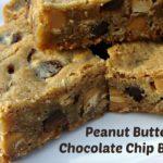Peanut Butter & Chocolate Chip Blondies {#PasstheCookbook}
