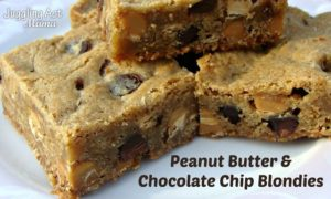 Peanut Butter & Chocolate Chip Blondies {#PasstheCookbook}