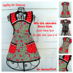 Giveaway: Retro-Style Sweet Cherry Girls Apron