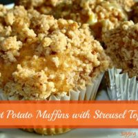 Sweet Potato Muffins with Strusel Topping
