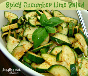 Spicy Cucumber Lime Salad