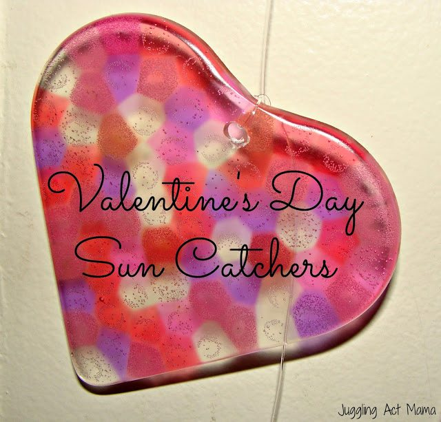 Heart Sun Catchers For Valentine S Day Juggling Act Mama
