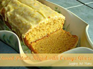 Sweet Potato Bread with Orange Glaze