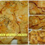 Wonton Wrapper Crackers