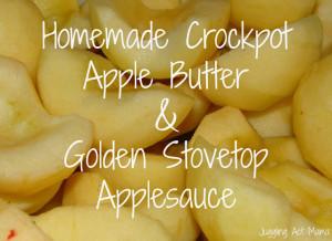 Golden Applesauce & Crockpot Apple Butter