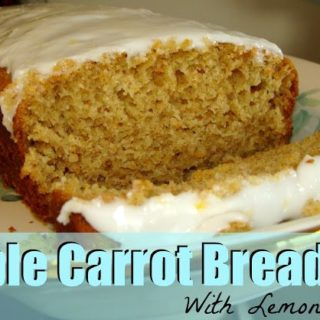 Apple Carrot Quick Bread with Lemon Glaze