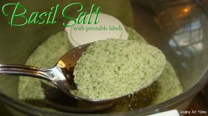 Basil Salt with Printable Label