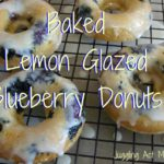 Baked Lemon Glazed Blueberry Donuts