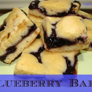 blueberry bars on plate.