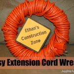 Easy Extension Cord Wreath