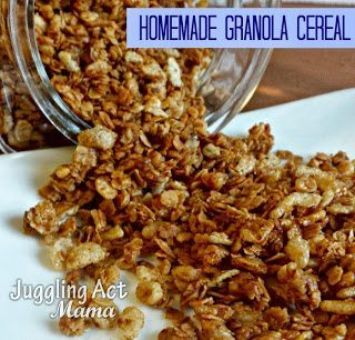 Homemade Granola Cereal via Juggling Act Mama