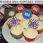 Patriotic Cupcake Toppers {Free Printable}