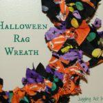Halloween Rag Wreath