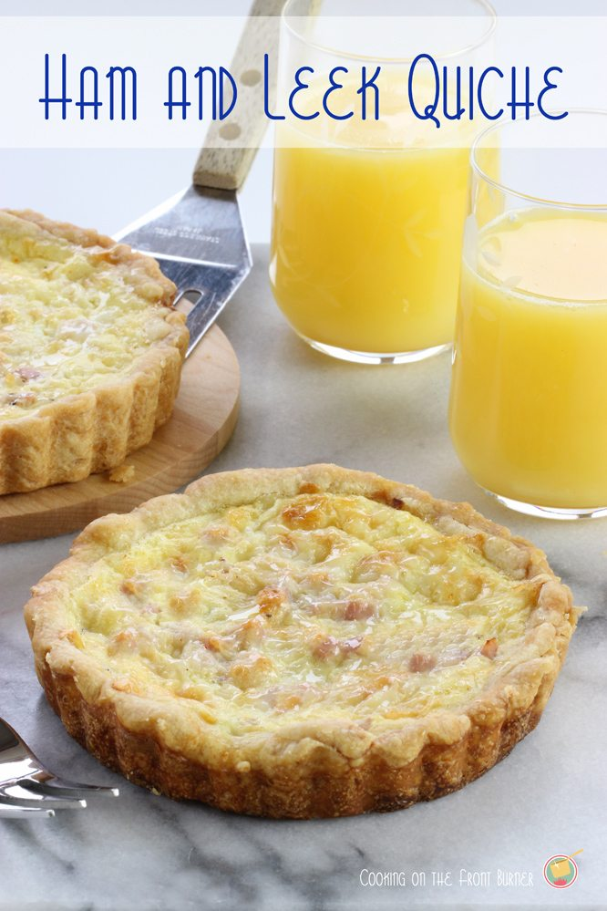 Ham Leek Quiche from Cooking on the Front Burner