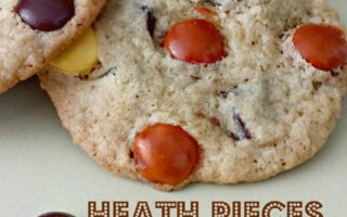 Heath Pieces Chocolate Chip Cookies via Juggling Act Mama