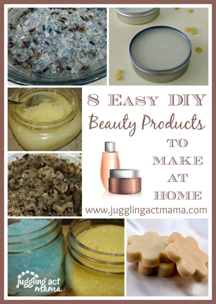 8 DIY Beauty Products to make at home - www.jugglingactmama.com