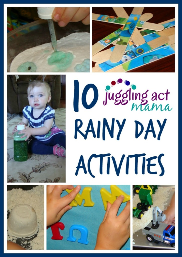 10 Rainy Day Actitivties from Juggling Act Mama