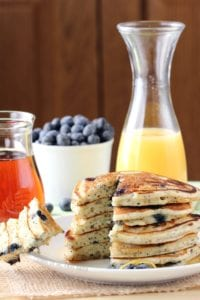 Lemon Blueberry Poppy Seed Pancakes