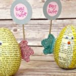 Book Page Easter Egg Chicks Craft