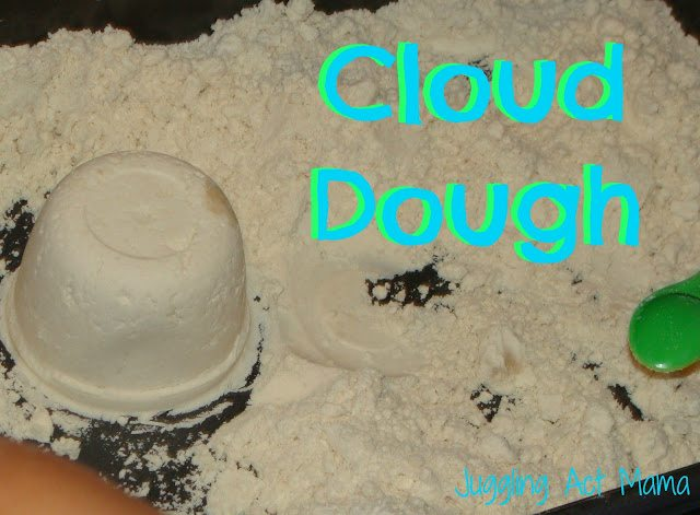 Cloud Dough via Juggling Act Mama