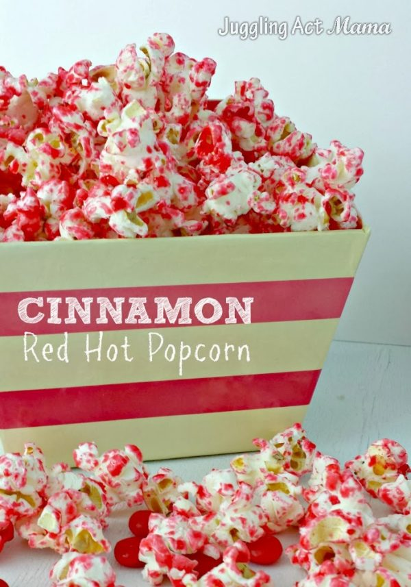 Cinnamon Red Hot Popcorn for Valentine
