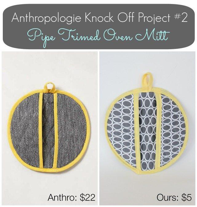 Anthropologie Inspired Oven Mitt