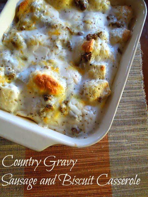 Country Gravy Breakfast Casserole from Miss Information