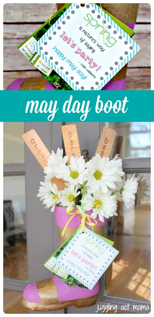 May Day Boot (our version of a May Basket) | Juggling Act Mama