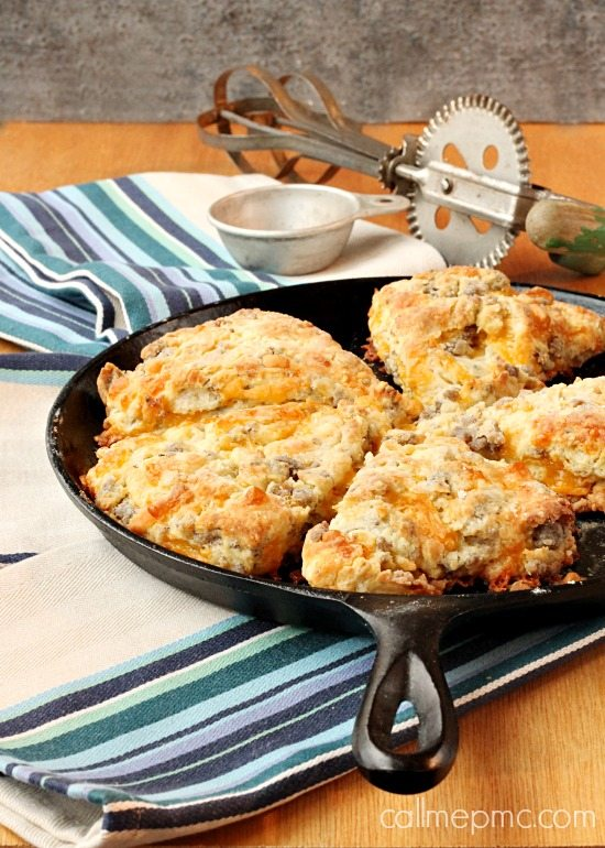 Sausage Cheese Scones via Call me PMc