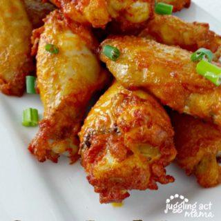 Spicy Hot Wings via Juggling Act Mama