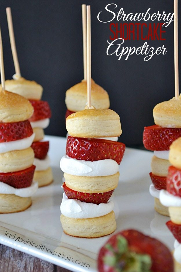 Strawberry Shortcake Appetizer from Lady Behind the Curtain from Somewhat Simple