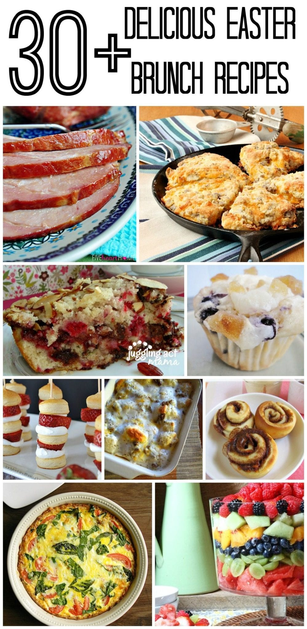 30+ Delicious Easter Brunch Recipes via Juggling Act Mama