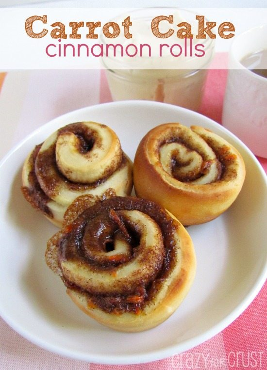 Carrot Cake Cinnamon Rolls from Crazy for Crust