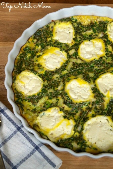 Fresh Herb and Scallion Fritata from Top Notch Mom