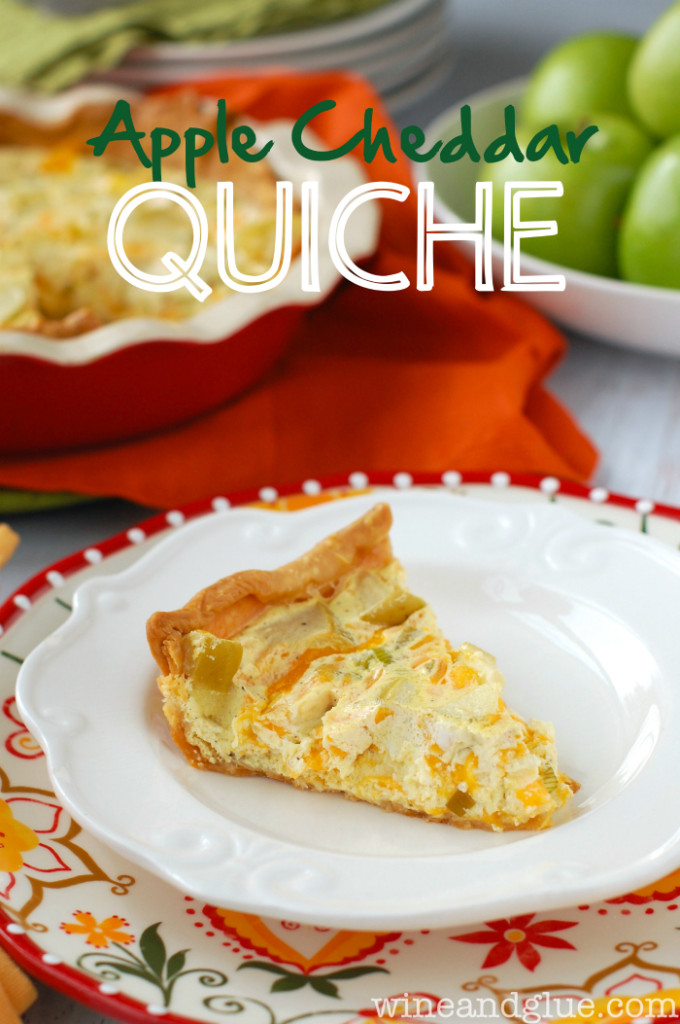 Apple Cheddar Quiche from Wine and Glue