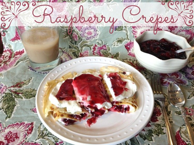 Raspberry Crepes from Framed Frosting