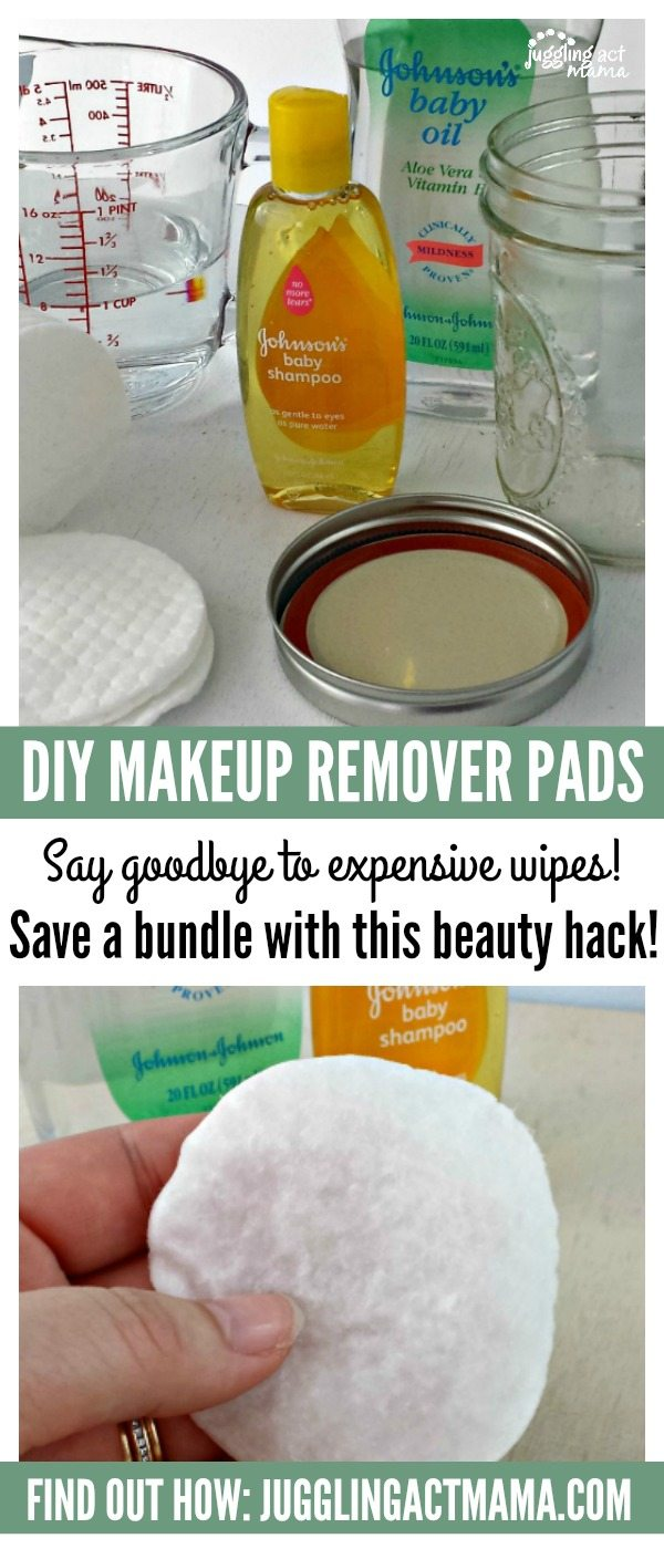 DIY Makeup Remover Pads - Juggling Act Mama