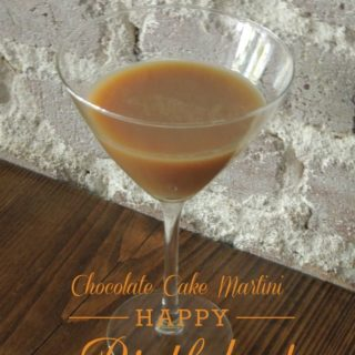 Chocolate Cake Martini - who needs cake when you can have this for your birthday!